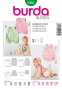 Burda Baby Easy Sewing Pattern 9462 Dress, Jumpsuits & Panties