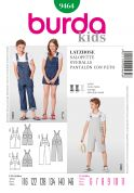 Burda Childrens Sewing Pattern 9464 Dungaree Overalls