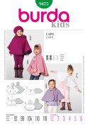 Burda Childrens Easy Sewing Pattern 9475 Capes in 4 Variations