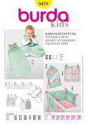 Burda Baby Easy Sewing Pattern 9479 Sleeping Bag & Nursery Accessories