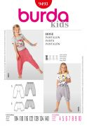 Burda Childrens Easy Sewing Pattern 9493 Harem Pants