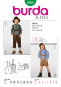 Burda Childrens Sewing Pattern 9508 Dungarees & Shorts