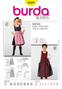 Burda Childrens Sewing Pattern 9509 Dirndl Dresses & Aprons