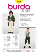 Burda Childrens Sewing Pattern 9528 Jacket, Trouser & Waistcoat Suit