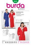 Burda Childrens Easy Sewing Pattern 9620 Bathrobe Dressing Gown