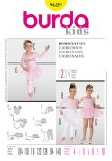 Burda Childrens Easy Sewing Pattern 9629 Ballet Leotard, Tutu & Accessories