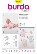 Burda Baby Easy Sewing Pattern 9636 Jackets, Pants, Jumpsuit & Hat