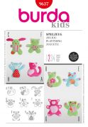 Burda Childrens Easy Sewing Pattern 9637 Cuddly Toys & Playthings