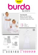 Burda Baby Sewing Pattern 9649 Christening Dress, Bolero & Hat