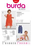 Burda Toddlers Easy Sewing Pattern 9652 Dungarees Jumpsuit