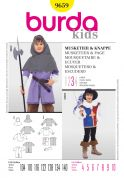 Burda Childrens Sewing Pattern 9659 Musketeer & Page Fancy Dress Costumes