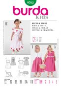 Burda Childrens Easy Sewing Pattern 9702 Dresses, Apron & Jacket