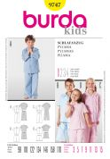 Burda Childrens Easy Sewing Pattern 9747 Pyjamas Sleepwear