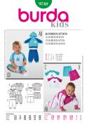 Burda Toddlers Easy Sewing Pattern 9748 Top, Hoodie, Pants & Shorts