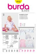 Burda Baby & Toddlers Easy Sewing Pattern 9752 Dress, Top, Dungarees, Jacket & Shorts