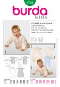 Burda Toddlers Easy Sewing Pattern 9782 Jumpsuit & Sleeping Bag