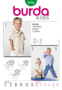 Burda Childrens Easy Sewing Pattern 9792 Long & Short Sleeve Shirts