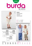 Burda Childrens Easy Sewing Pattern 9793 Trouser Pants & Shorts