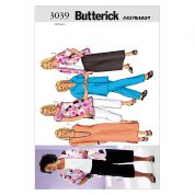 Butterick Ladies Plus Size Easy Sewing Pattern 3039 Tops, Dress, Skirt & Trousers