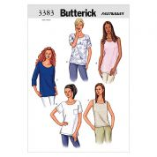 Butterick Ladies Easy Sewing Pattern 3383 Tops & Tunics