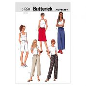 Butterick Ladies Easy Sewing Pattern 3460 Skirts, Shorts & Trouser Pants