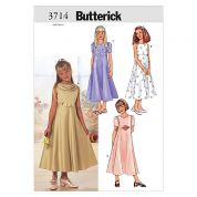 Butterick Childrens Easy Sewing Pattern 3714 Special Occasion Dresses Ages: 12-16