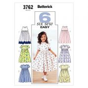 Butterick Childrens Easy Sewing Pattern 3762 Summer Dresses