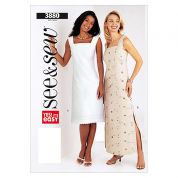 Butterick See & Sew Ladies Easy Sewing Pattern 3880 Dresses