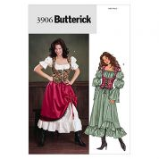 Butterick Ladies Sewing Pattern 3906 Historical Costume