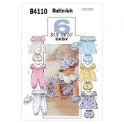Butterick Toddlers Sewing Pattern 4110 Jumpsuits, Hats, Dresses & Panties