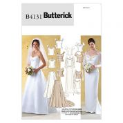 Butterick Ladies Sewing Pattern 4131 Wedding Dress Bridal Bodices & Skirts