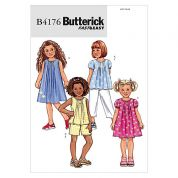 Butterick Childrens Easy Sewing Pattern 4176 Tops, Dresses, Shorts & Pants