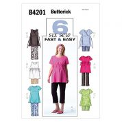 Butterick Ladies Maternity Easy Sewing Pattern 4201 Tops, Pants & Shorts