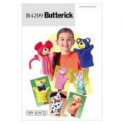 Butterick Childrens Easy Sewing Pattern 4209 Hand Puppet Toys