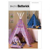 Butterick Childrens Easy Sewing Pattern 4251 Teepee & Mat