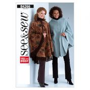 Butterick See & Sew Ladies Easy Sewing Pattern 4266 Ponchos & Capes