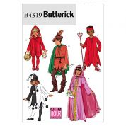 Butterick Childrens Easy Sewing Pattern 4319 Classic Character Costumes