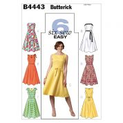 Butterick Ladies Easy Sewing Pattern 4443 Dresses & Belt