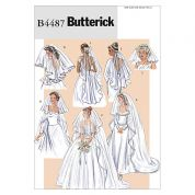 Butterick Ladies Sewing Pattern 4487 Bridal Wedding Veils