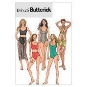 Butterick Ladies Easy Sewing Pattern 4526 Swimming Costume, Bikini & Sarong