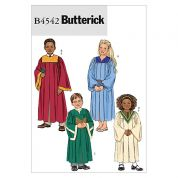 Butterick Childrens Easy Sewing Pattern 4542 Robe & Collar