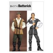 Butterick Mens Sewing Pattern 4574 Historical Costume Shirt, Top, Pants & Hat