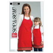 Butterick See & Sew Ladies & Childrens Easy Sewing Pattern 4585 Aprons