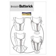 Butterick Ladies Sewing Pattern 4669 Historical Costume Corsets