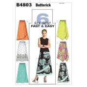Butterick Ladies Easy Sewing Pattern 4803 Elasticated Waist Skirts