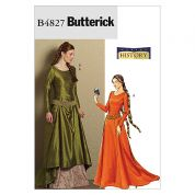 Butterick Ladies Sewing Pattern 4827 Historical Costume Medieval Dress & Belt