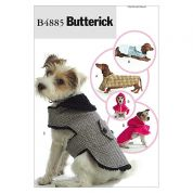 Butterick Pets Easy Sewing Pattern 4885 Dog Coats