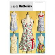 Butterick Ladies Easy Sewing Pattern 4945 Classic Aprons