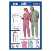 Butterick Ladies & Men's Easy Sewing Pattern 4946 Doctor & Nurse Uniforms