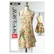 Butterick See & Sew Ladies Easy Sewing Pattern 5125 Aprons